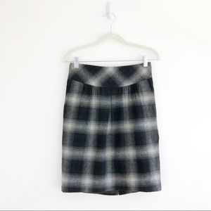 Ann Taylor Loft Wool Buffalo Plaid Pencil Skirt 0